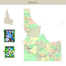 Maps Usa States by Usa States Series Idaho Political Map With Counties Roads