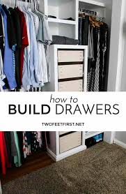 building drawers for closet twofeetfirst
