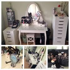 Vanity Makeup Makeup Vanity Makeup Table Drawers An Affordable Ikea Dressing