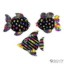 color scratch fish ornaments