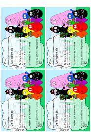 caillou birthday invitations barbapapa party freebie invitation x 4 birthdays