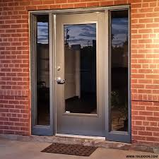 glass and wooden doors commercial metal doors with steel lite kit and glass