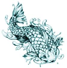 koi fish design by 121642 even i a side
