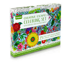 creative coloring books creative escapes coloring set large gift set crayola