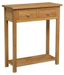 light wood console table wood console table with two draws waverly oak table hallowood