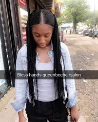 cornrows hairstyle with part in the middle 293 likes 17 comments queen bee hair salon queenbeehairsalon