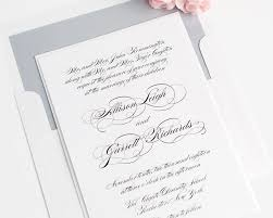 Invitation Blank Card Stock Elegant Script Wedding Invitations Wedding Invitations By Shine