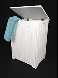 Bathroom Cabinet With Laundry Bin fineway white wood storage chest bathroom cabinet with hinged lid