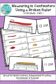 measuring in centimeters with a broken ruler students math and