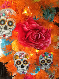 day of the dead inspiration for your halloween tree see how
