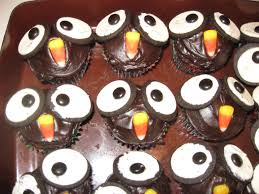 owl cupcakes or happy halloween cat scan