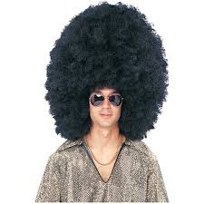 mens halloween wigs amazon com super size black afro wig clothing