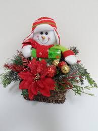 free shipping christmas snowman basket christmas centerpiece