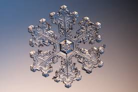 close up snowflake