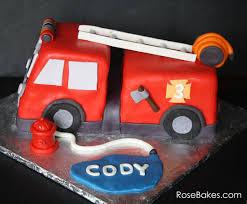 firetruck cakes behance