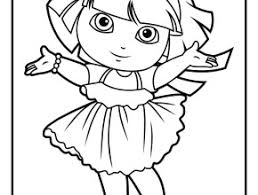 dora car coloring pages kids printable free coloing 4kids