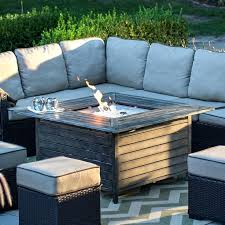 outdoor gas fire pit table gas fire pit table rectangular slate topped gas table with red lava