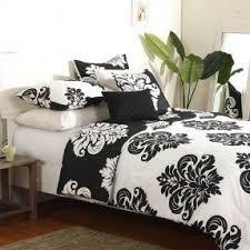 Black And White Toile Duvet Cover Black And White Damask Duvet Cover Foter