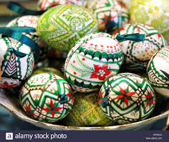 easter eggs sale budapest hungary march 4 2016 handmade colorful easter eggs