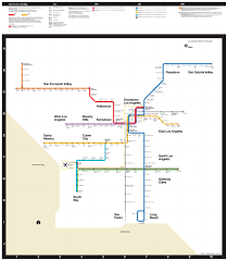 Metro Rail Map Los Angeles by Submission Los Angeles Metro In The Style Of The Transit Maps
