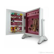 White Jewelry Armoire Mirror Furniture White Floor Mirror With Jewelry Storage Stand Up