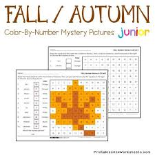 place value mystery number fall autumn place value color by number printables worksheets