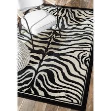 flooring black and white zebra print rugs animal print area
