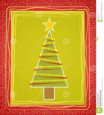 rustic christmas tree card royalty free stock image image 3473036