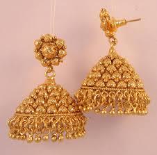 temple design gold earrings earrings jhumka chandelier gold plated temple jewellery online