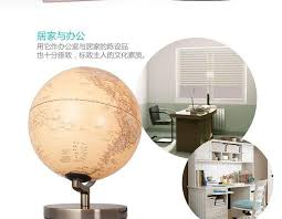 Globe Table Lamp 25cm Antique 3d Relief Earth Globe Table Lamp Student Kids