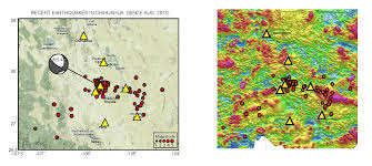Map Of Chihuahua Mexico by New Mexico Texas Chihuahua Seismicity