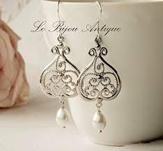 Long Chandelier Earrings Dangle Earrings Black Chandelier Earrings Large Dangle Earrings Big Bridal