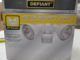Defiant Solar Motion Security Light Lighting Liquidation Led Bulbs Fixtures Lamps More In Dassel