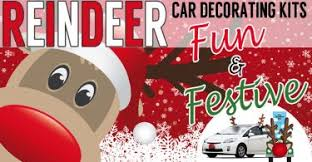 Christmas Reindeer Car Decoration Kit by Celebrate In Style With Christmas Pajamas For The Whole Family