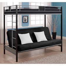Black Bunk Beds Dhp Silver Screen Futon Metal Bunk Bed Silver Black