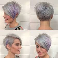 pixie grey hair styles pixie cut long bangs hairstyle for women man