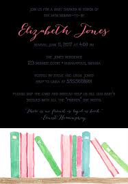 Baby Shower Instead Of A Card Bring A Book 22 Baby Shower Invitation Wording Ideas
