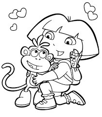 happy thanksgiving coloring sheet dora the explorer coloring pages happy dora the explorer