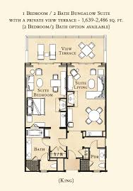 Floor Plan Of Bungalow Bungalow Guest Rooms The Resort At Pelican Hill