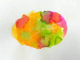 watercolor egg art choices for children