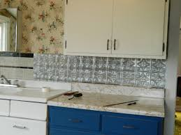 Metal Wall Tiles Kitchen Backsplash Kitchen Inspiration For Rustic Kitchen Using Rock Backsplash