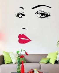 marilyn monroe quotes lips vinyl wall stickers art mural home