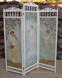 Shabby Chic Room Divider by Shabby Antique Angel Chic Victorian Oil Painting Dressing Screen