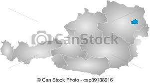 austria map vector map austria vienna map of austria with the provinces