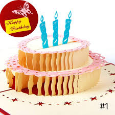 cake candle magic fairy greeting card 3d handmade pop up piano