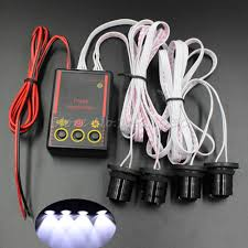 strobe lights for car headlights sale free shipping 4 leds car truck strobe emergency warning eagle