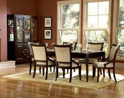 dark wood finish modern dining room woptional items dining table
