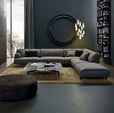 Poliform Sofa Modular Sofa Contemporary Fabric Leather Tribeca Poliform