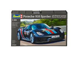 martini porsche 918 porsche 918 weissach sport model kit by revell 1 24 scale