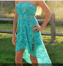 dress turquoise high low dresses country wheretoget